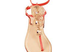 Sandali capresi gioiello arancioni e oro- Da Co...