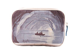 Blue grotto canvas beauty case