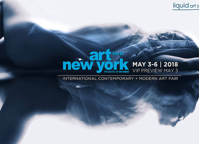 Liquid art system at Art New York 2018