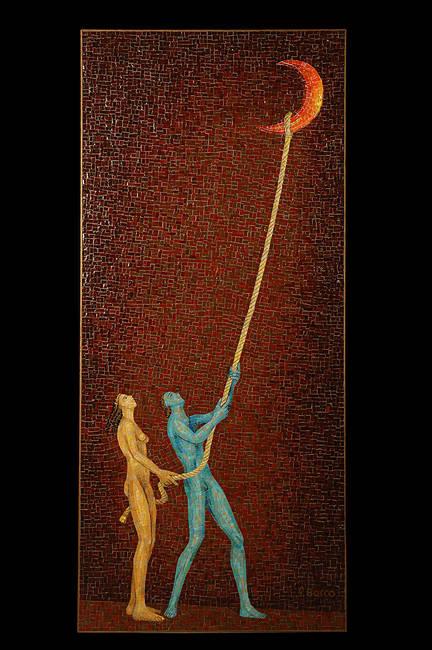 Mosaico Luna Caprese Bizantino