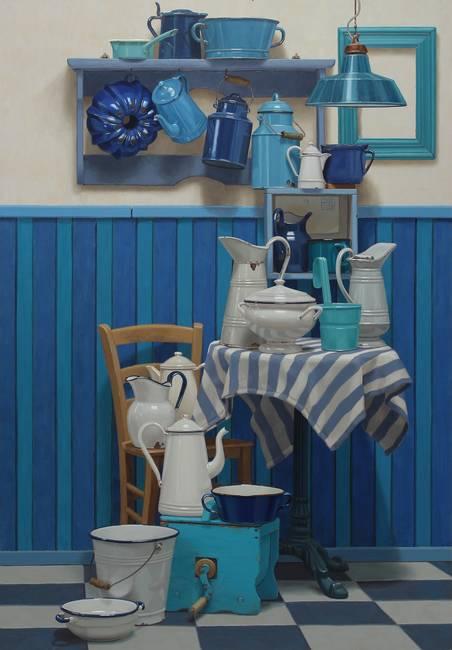 Blu su bianco, bianco su blu