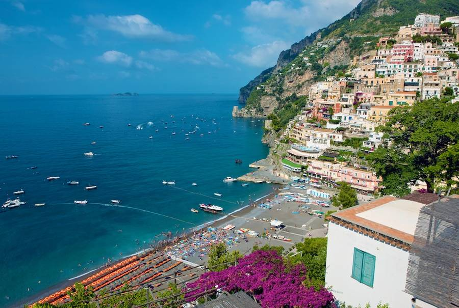 Ideal Picture Postcard Material Positano S Main Beach Is One Of The Liveliest And Most Cosmopolitan All Those On Amalfi Coast
