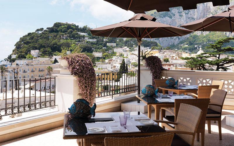 restaurant terrazza tiberio on capri tastes of tiberio. Black Bedroom Furniture Sets. Home Design Ideas