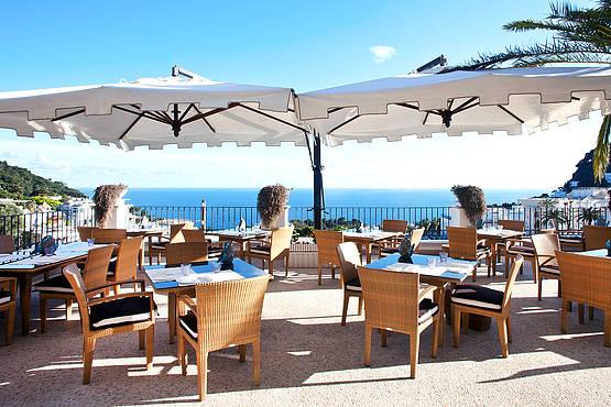 Restaurant La Fontelina On Capri Fish Cuisine And Sangria
