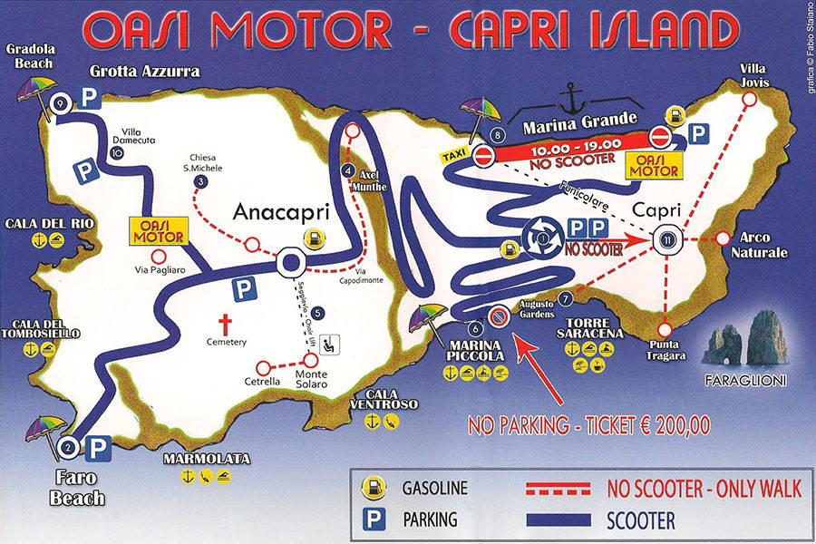 Oasi Motor on Capri Discover all of Capri on two wheels