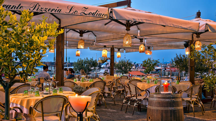 Restaurant Lo Zodiaco On Capri The Best Fish In Capri In The