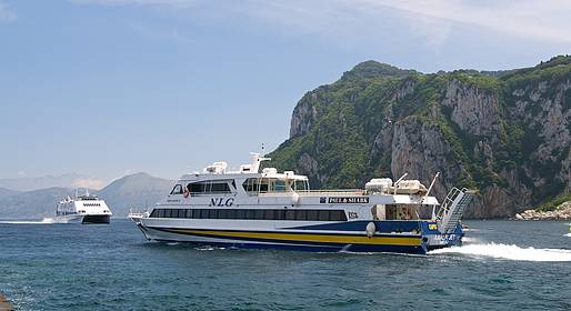Capri Luxury Boats - Transfer From Naples to Capri by Car + Ferry