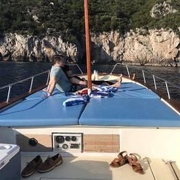 "Vincenzo Capri Boats - ""Gozzo"" Boat Tour of Capri"