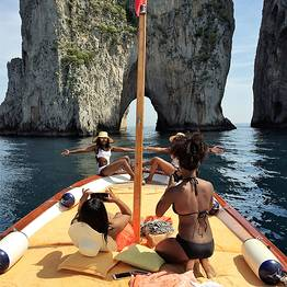 Tour of the Isle of Capri by private gozzo boat