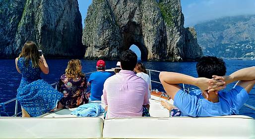 MBS Blu Charter - Capri Blu Premium Tour: Shared Boat Tour (max 7 people)