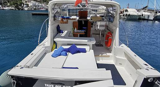 Le Arcate Boat - Capri Boat Tour via Speedboat with Cabin