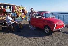 Costiera Amalfitana in Fiat 500 vintage