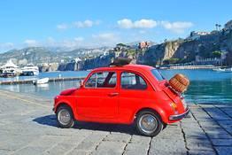 Photo-tour della Penisola Sorrentina in 500 vintage
