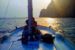 Capri, giro dell'isola in barca al tramonto