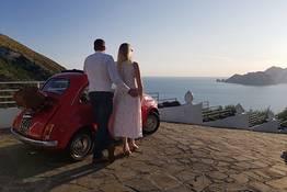 Tour fotografico al tramonto in Fiat 500