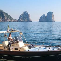 Tour of Capri from Marina Piccola on a Gozzo