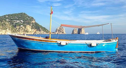 Capri Blue Boats - Full Day Tour along the Amalfi Coast by Gozzo Boat