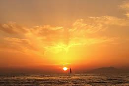 Sunset Sail with Cocktails beneath the Faraglioni