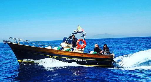 Capri Island Tour - Water Taxi Capri-Amalfi Coast (ou vice-versa)