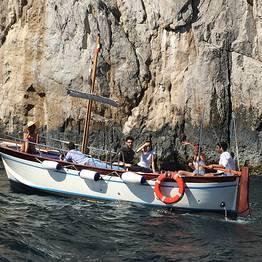 Private Capri Boat Tour via Gozzo with a Swim